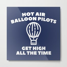 Balloon Pilots Metal Print