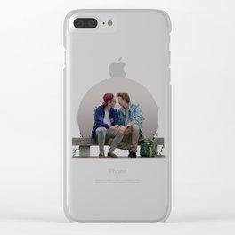 LOVE, EVAK. (light version) Clear iPhone Case