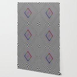 Matrix processor. Holographic hypnotic pattern. Wallpaper