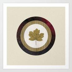Leaf Space Art Print