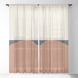 Abstract Geometric 01E Sheer Curtain