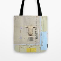 returns Tote Bags featuring diminishing returns by Jerry Shirts