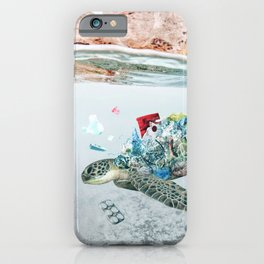 Trash Turtle • Save the Planet iPhone Case
