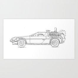 Great Scott! It's a DeLorean! Art Print