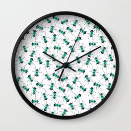 Fly blown Wall Clock