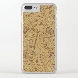 Inventory in Sepia Clear iPhone Case