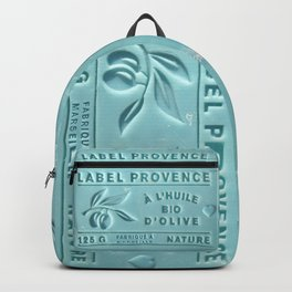 blue french marseille soap Backpack