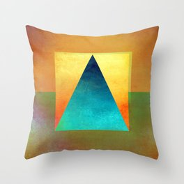 Triangle Composition XIII Throw Pillow