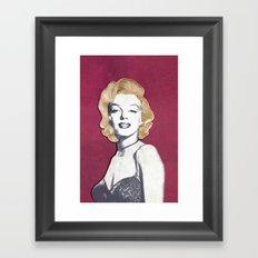 Marilyn Monroe Paper Art Print Framed Art Print