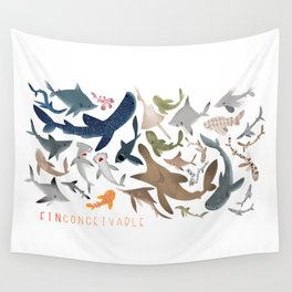 "FINconceivable Still ""Sharks"" Wall Tapestry"