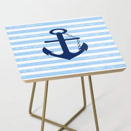 AFE Nautical Blue Ship Anchor Side Table