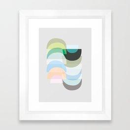 Pastel Geometry 3 Framed Art Print