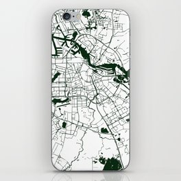 Amsterdam White on Green Street Map iPhone Skin