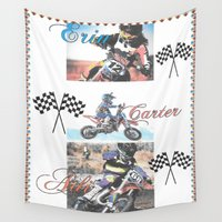 moto Wall Tapestries featuring Moto Kids by Connie Campbell