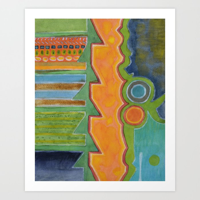 Growth with visible Lifestream Art Print