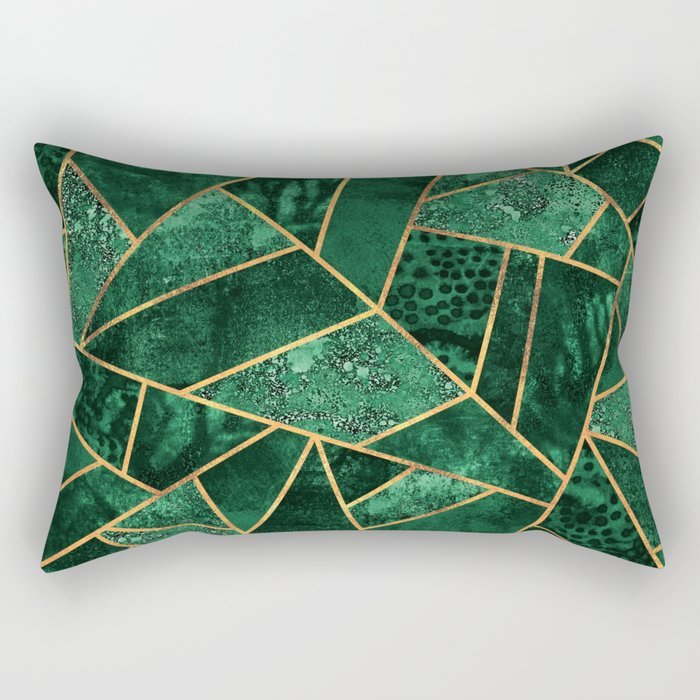 Deep Emerald Rectangular Pillow