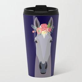 Flower Power - Grey Travel Mug