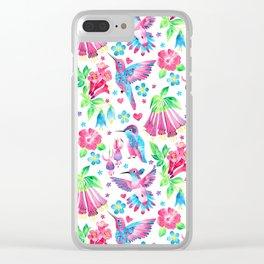 Humming Bird Garden Clear iPhone Case