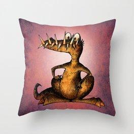 Monster Crocodile Throw Pillow