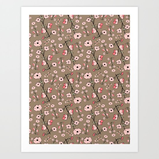 Stylized Sakura Art Print