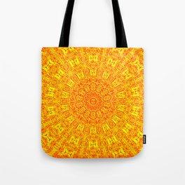 Yellow Earth Mandala Tote Bag
