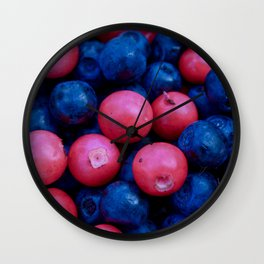 Forest Berries background Wall Clock