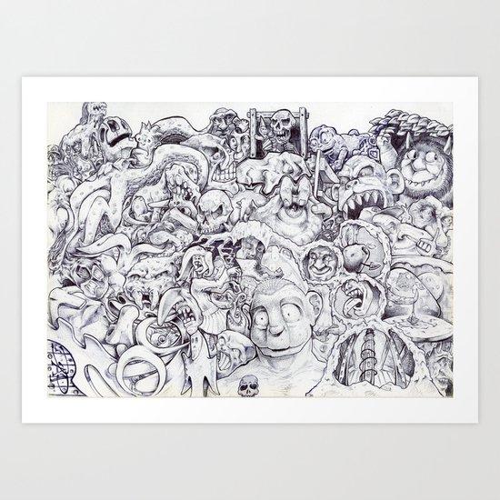 Where's Waldo? Art Print