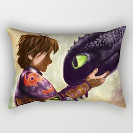 How to Train Your Dragon - Hiccup and Toothless Rectangular Pillow