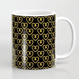 Hearts of flowers in aspen gold. A true spring 2019 trend. Coffee Mug