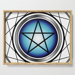 Glowing Pentagram Serving Tray