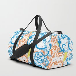Cobwebbed Flower Lace Pattern Duffle Bag