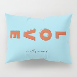 Love is all - typography Pillow Sham