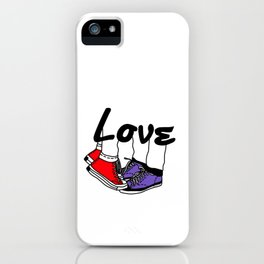 Tippy Toe Kiss Cute Couple Love  iPhone Case