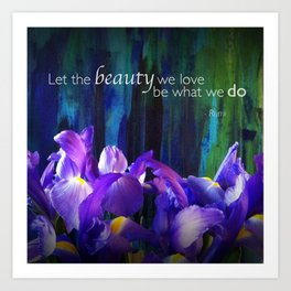 Let the beauty - Iris - iPhoneography Art Print