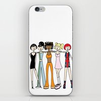 spice girls iPhone & iPod Skins featuring The Spice Girls by flapper doodle