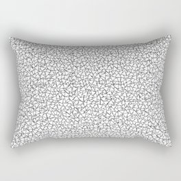 Black and White Triangles Dizzy All-Over Pattern Rectangular Pillow