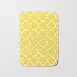 Buttercup Yellow Quatrefoil Bath Mat