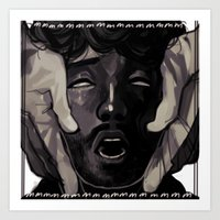 will graham Art Prints featuring Graham by Frank Odlaws