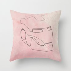 One line Iron Man Throw Pillow