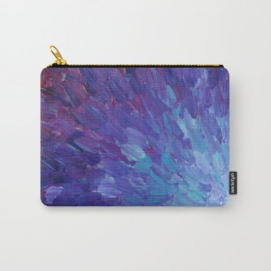 SCALES OF A DIFFERENT COLOR - Abstract Acrylic Painting Eggplant Sea Scales Ocean Waves Colorful Carry-All Pouch