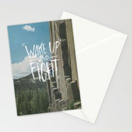 WAKE UP AND FIGHT (AGAIN!) Stationery Cards