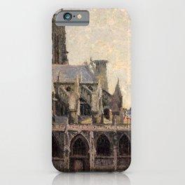"""Camille Pissarro """"L'Église Saint-Jacques à Dieppe, soleil, matin"""" iPhone Case"""