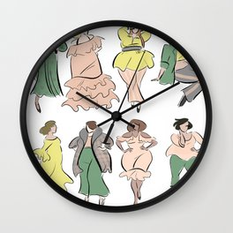 Plus Size Resort Trends Wall Clock