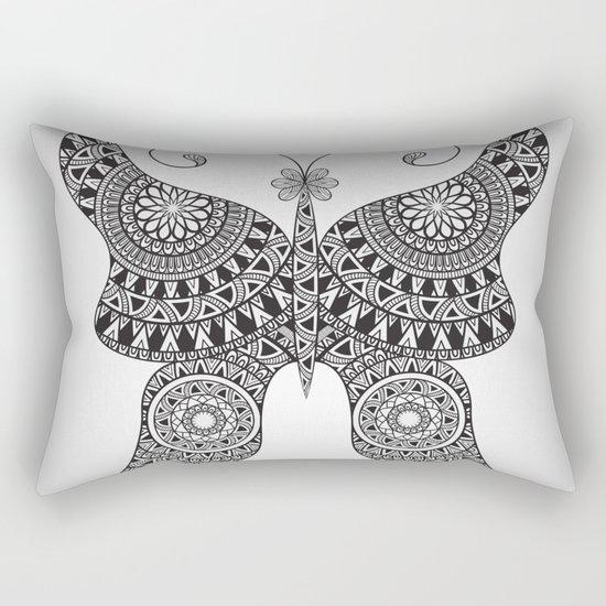 Drawn Butterfly Rectangular Pillow