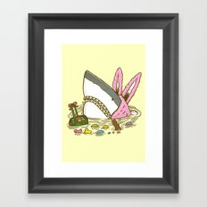The Easter Shark Framed Art Print