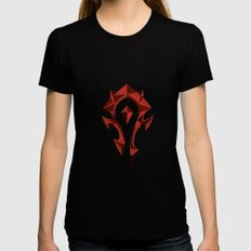 for the horde Womens Fitted Tee Black SMALL
