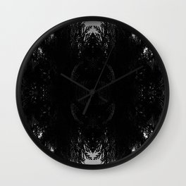 Midnight Bouquet Wall Clock