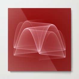 Abstract #4 (DarkRed/White) Metal Print