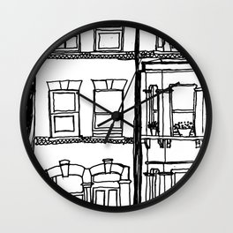 Across the road Wall Clock