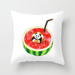How Pandas Keep it Cool Throw Pillow